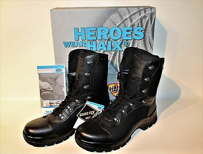 HAIX AIRPOWER P3 Black Leather Boots Police Service Size US 13 1/2 W (wide) NEW