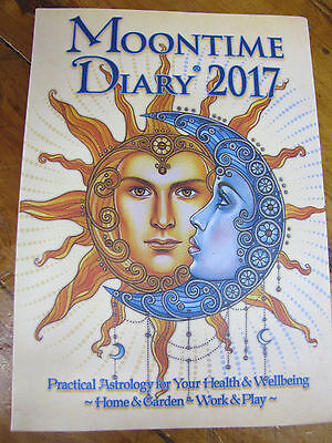 New Moontime Diary 2017 Practical Astrology For Health,wellbeing,garden