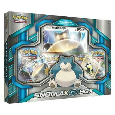 NEW Pokemon TCG: Snorlax-GX Box Trading Card Game Booster Collector Packs CHOP