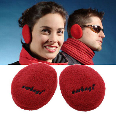 thinslate fleece ear warmers medium size red color earbags