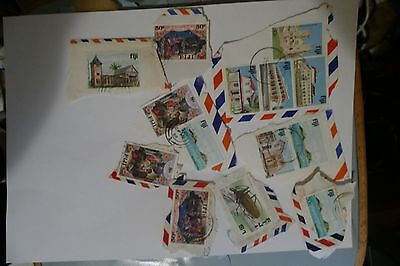 13x FIJI used stamps postage philately mail