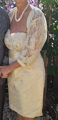 Mother of the Bride/ Wedding Dress and Jacket