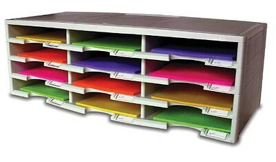 Office Depot Brand Stackable Plastic Literature Organizer, 12 Compartments