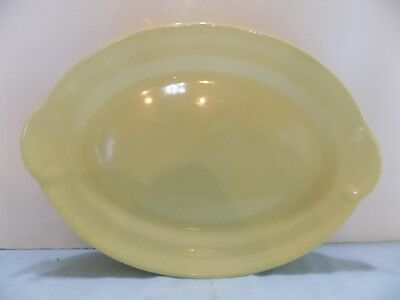 "Luray Pastel 1 YELLOW 11.5"""" OVAL PLATTER  (R2-2)"