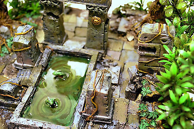 Warhammer Fantasy/Age of Sigmar ARCANE TEMPLE SCENERY LIZARD JUNGLE POOL PAINTED
