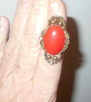 Male Aztec Vampire Ring Estate Item Witch Owned