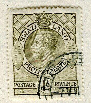 SWAZILAND;  1933 early GV issue fine used 1s. value