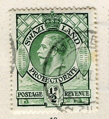 SWAZILAND;  1933 early GV issue fine used 1/2d. value