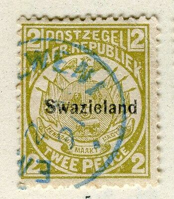 SWAZILAND;  1890s early QV SWAZIELAND Optd. issue fine used 2d. value