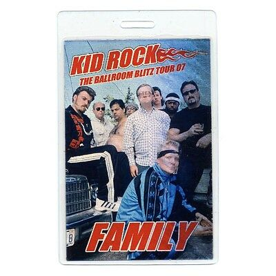 Kid Rock authentic 2007 tour Laminated Backstage Pass