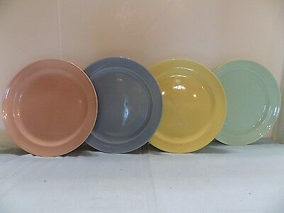 "Luray Pastel  4  DINNER PLATES  9 1/4"" 4 COLORS (R4-5) NO.1"