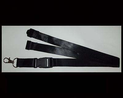 Black Lanyard  Neck Strap ID Holder Key Phone Medical Security Sport Whistle