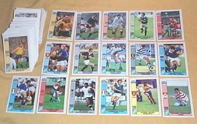 1991 World Cup Rugby Union 166 Card Set - Nice Condition