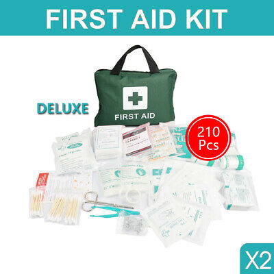 2x 210 Pieces First Aid Kit Bags Supplies Home Office Medical ARTG Registered