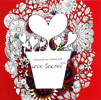 Wholesale Lot Love Secret Art Therapy Anti-stress Children's Adult Coloring Book