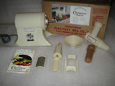Champion Juicer Heavy Duty Model G5-NG-853S Almond Only used a few times EUC