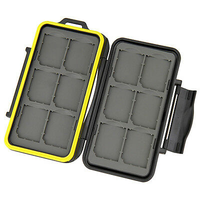 JJC Water-Resistant Anti-shock Tough Memory Card Case for 12x SD cards US Seller