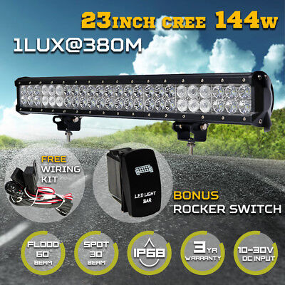 540W Philips LED Light Bar 23inch Spot Flood Combo Offroad Work Driving 4WD