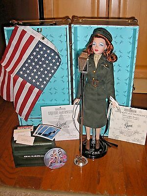 Ashton Drake Gene USO Military Doll WITH Trunk and Accessories 1999