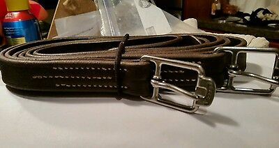 """stubben stirrup leathers, 54"""", very very good condition 3/4"""""""