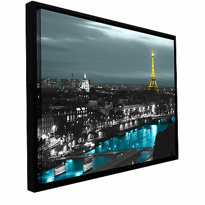 Paris' Gallery Wrapped Floater-framed Canvas Art Print