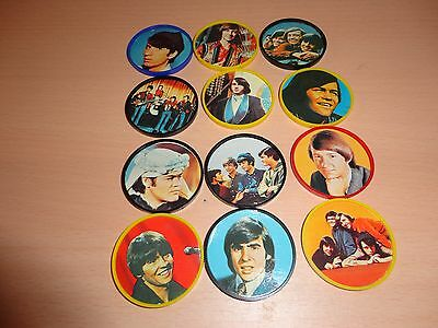 Monkees Set of 12 Canadian Kellogg's Cereal Coins