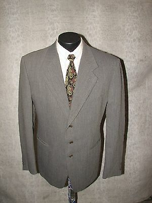 Pal Zileri Men Charcoal Grey 3 Button Blazer 42 R made in Italy