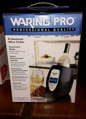 WARING PRO Professional Quality Wine Chiller  NEW IN BOX great Christmas Gift