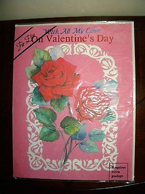 Extra Large Valentines Day Musical 3D Card Pink Red Rose Huge Giant Big Music