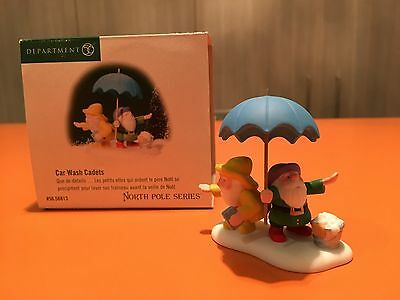 Department 56 North Pole Car Wash Cadets Christmas Village Piece Collectible!