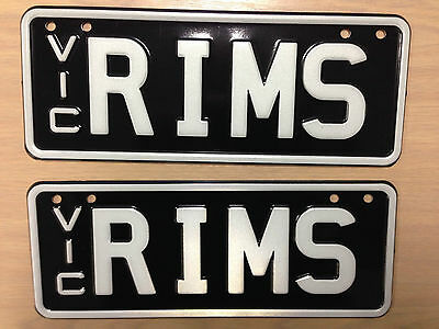 "Custom Personalised Victoria 4 letter Number Plates ""RIMS"""