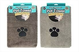 Super Absorbent and Quick Dry Microfibre Pet Towel 100X60CM Assorted colour