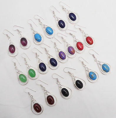 Beautiful Design Wholesale Lot 925 Sterling Silver Overlay 10Pr Dangle Earring