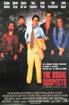 The Usual Suspects Movie Poster Signed Cast Rare Collectible