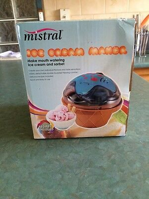 Mistral Ice Cream Maker: AS NEW, IN ORIGINAL PACKAGING