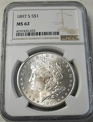 1897-S Morgan Silver Dollar Ngc Ms62 - Better Date