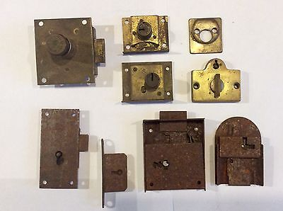 Antique vintage Miller Co. Yale, Corbin keyed Locks parts, repair, refurbish
