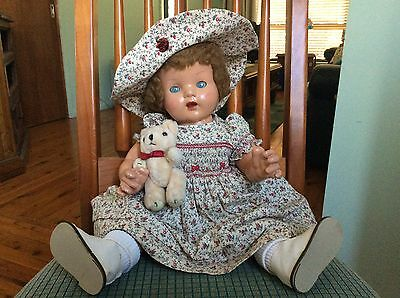 Vintage Doll Australian Watsons Wunder Babe From 1940s.