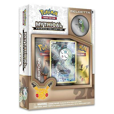 NEW Pokemon TCG Mythical Collection: Meloetta Trading Card Game with Pin