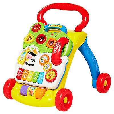 VTech First Steps Baby Walker Plus 2 in 1 Activity Centre Toddler Play education