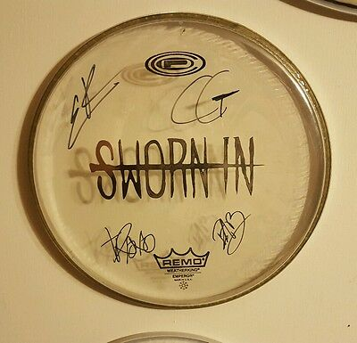 Rare! SWORN IN Autographed Signed Drumhead by All!