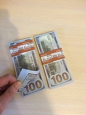 Brand New Set of 10 pcs $100 dollar bill, Play money looks very real, Real Size