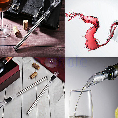Wine Chill Stick Stainless Steel Bottle Ice Chiller Cooling Fast Pourer Safe EW
