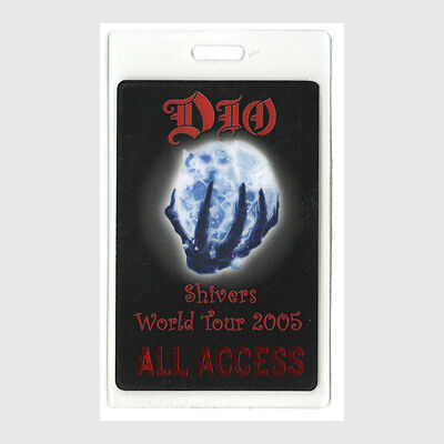 Dio authentic 2005 tour Laminated Backstage Pass