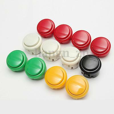 12Pcs OEM 30mm Push Buttons Replacement Parts For Arcade Sanwa PC Games Kits