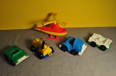 Vintage Fisher Price Little People Jetport Lot with Helicopter