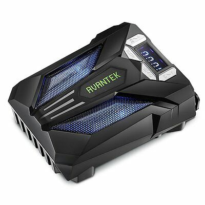 AVANTEK Laptop Notebook Cooler with Vacuum Fan Smart-Temp Detection LED Display