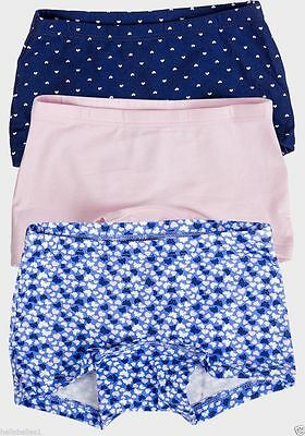 GIRLS H&M BRIEFS SHORTS ORGANIC COTTON PACK OF 3 £2.99 FREE p&p AGE 1.5-10