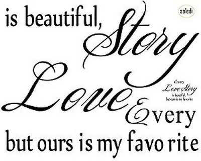 Love Story Wall Decal Sticker DIY Home Decor Vinyl Art Removable Stickers Quotes