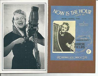 Gracie Fields, 2 Reproduction Nostalgia Postcard Collector's Club Cards